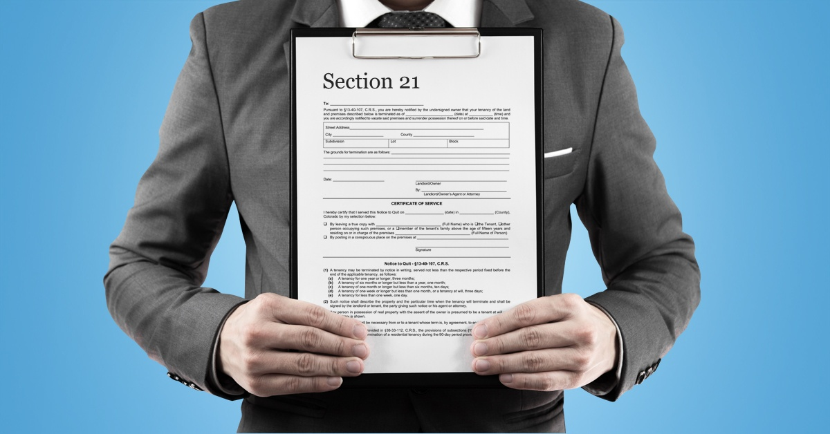 a section 21 notice to